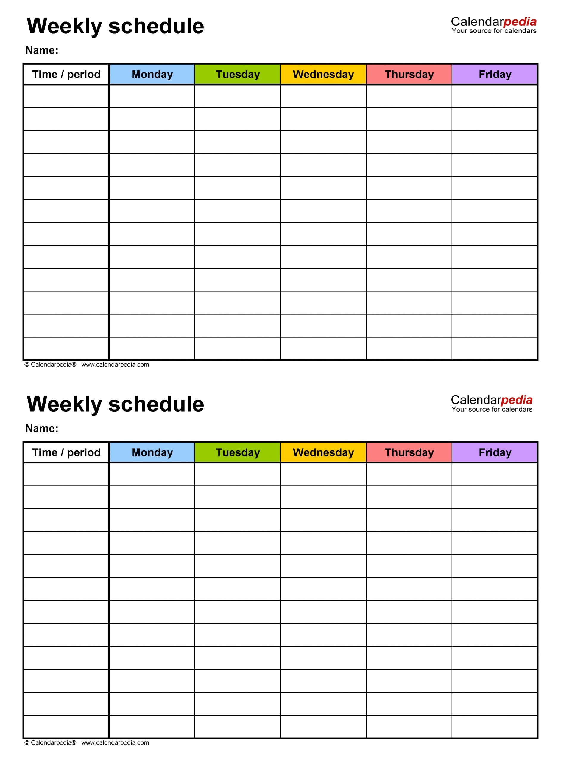 Blank Academic Weekweek Calendar Calendar Template