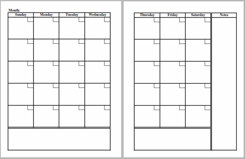Blank Planner Pages For A Binder Planner Choosing Real