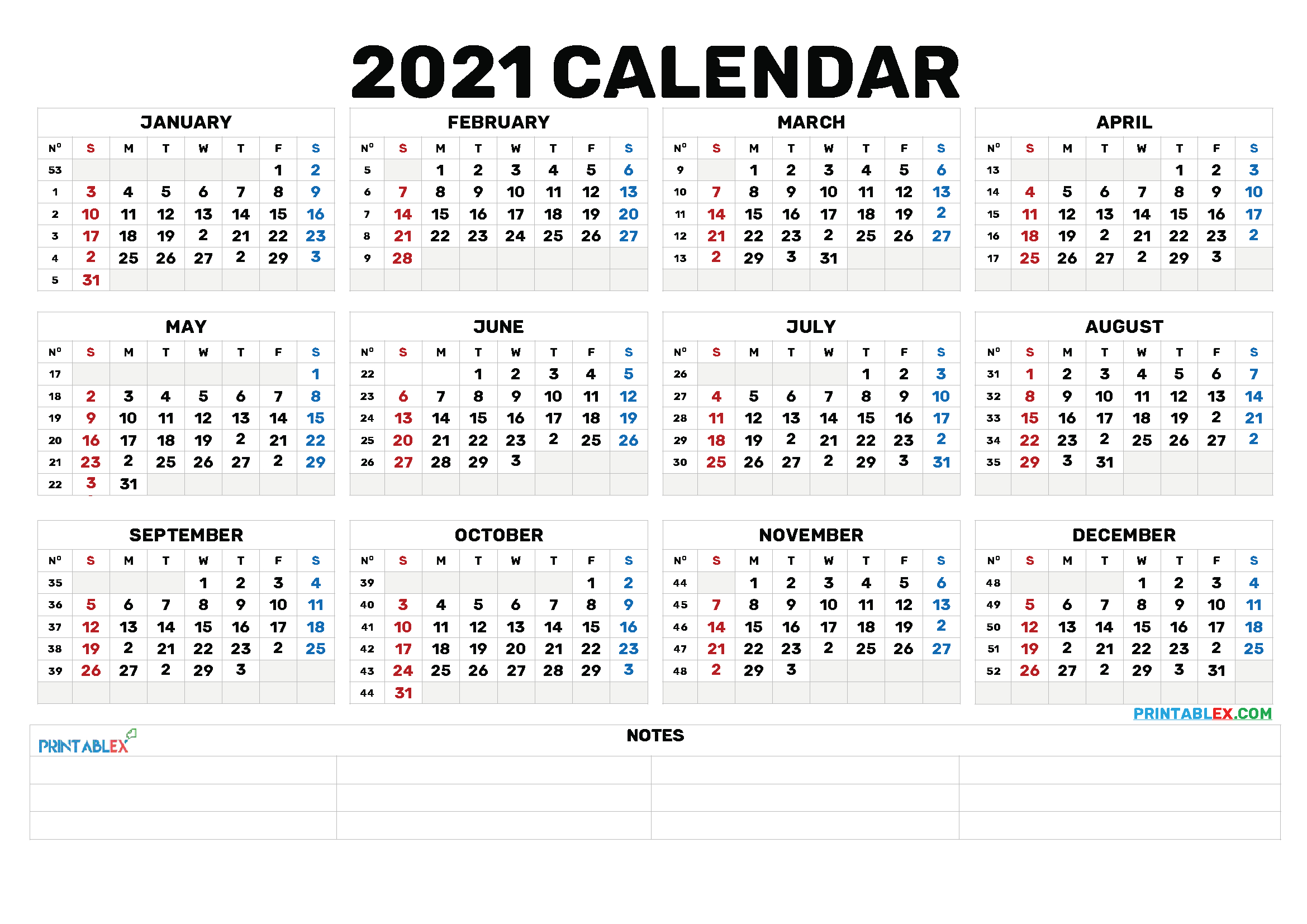 Bold Calendar 2021 Lunar Calendar