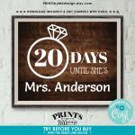 Bridal Shower Countdown Sign Days Until Shes Mrs 1