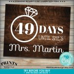 Bridal Shower Countdown Sign Days Until Shes Mrs 2