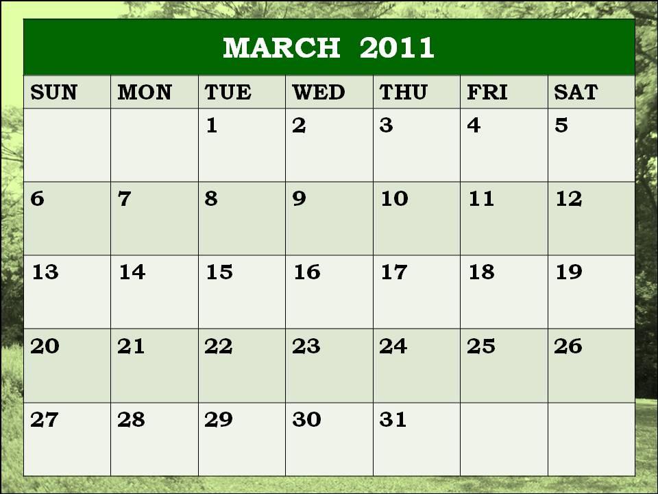Calendar 2011 Template March Katy Perry Buzz