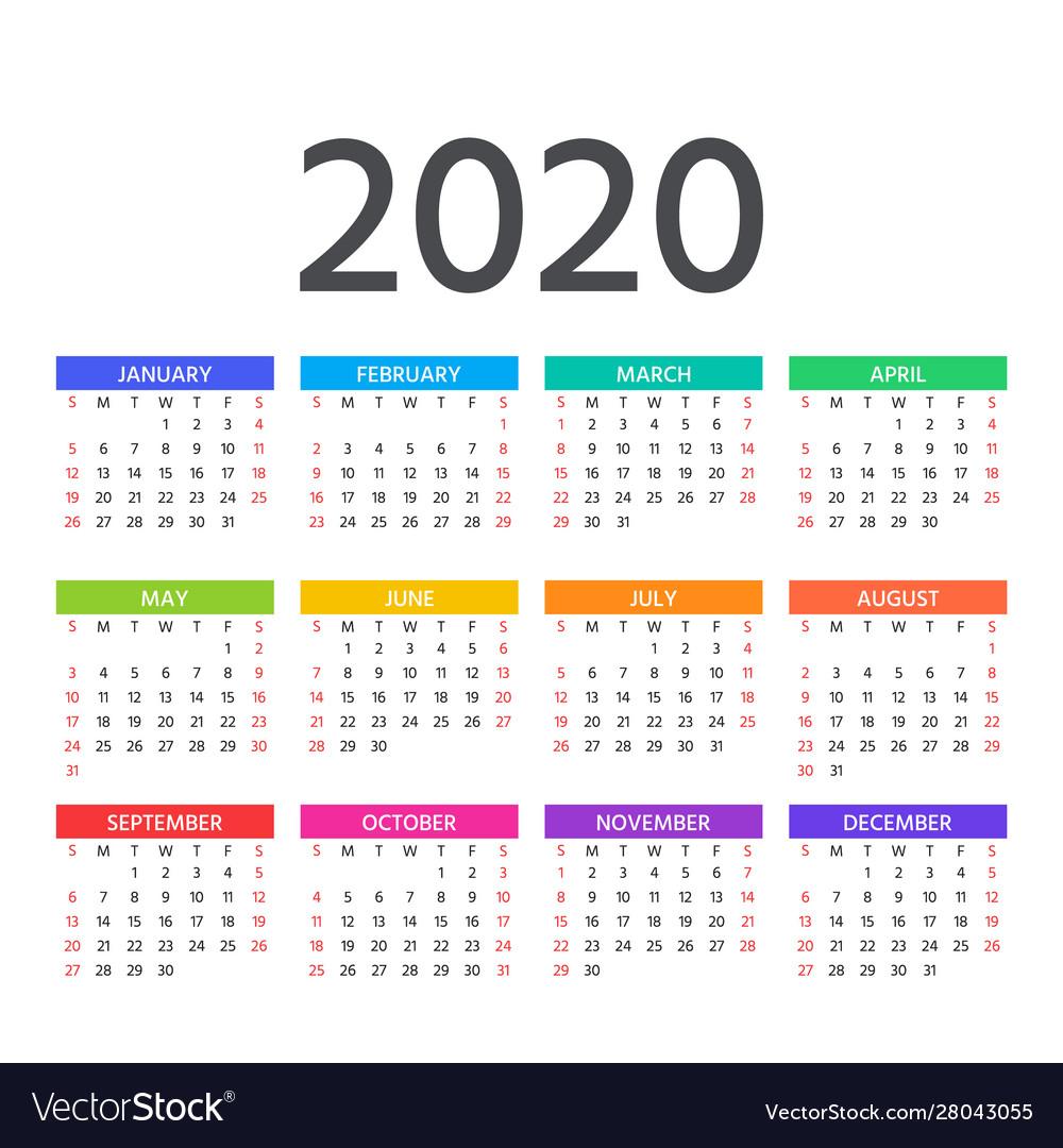 Calendar 2020 Year Planner Calendar Printables Free