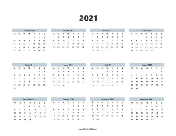 Calendar 2021 Free Download Complete Months In 2020