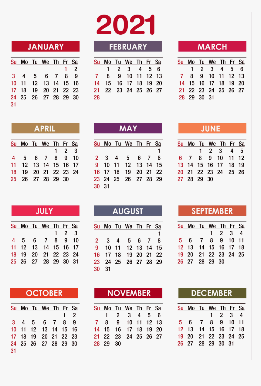 Calendar 2021 Png Image 2020 Calendar Printable Pdf Transparent Png Kindpng
