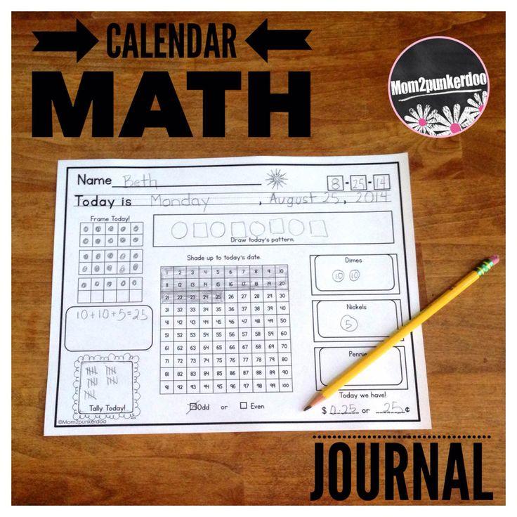 Calendar Math Journal Everyday Counts Aligned Math