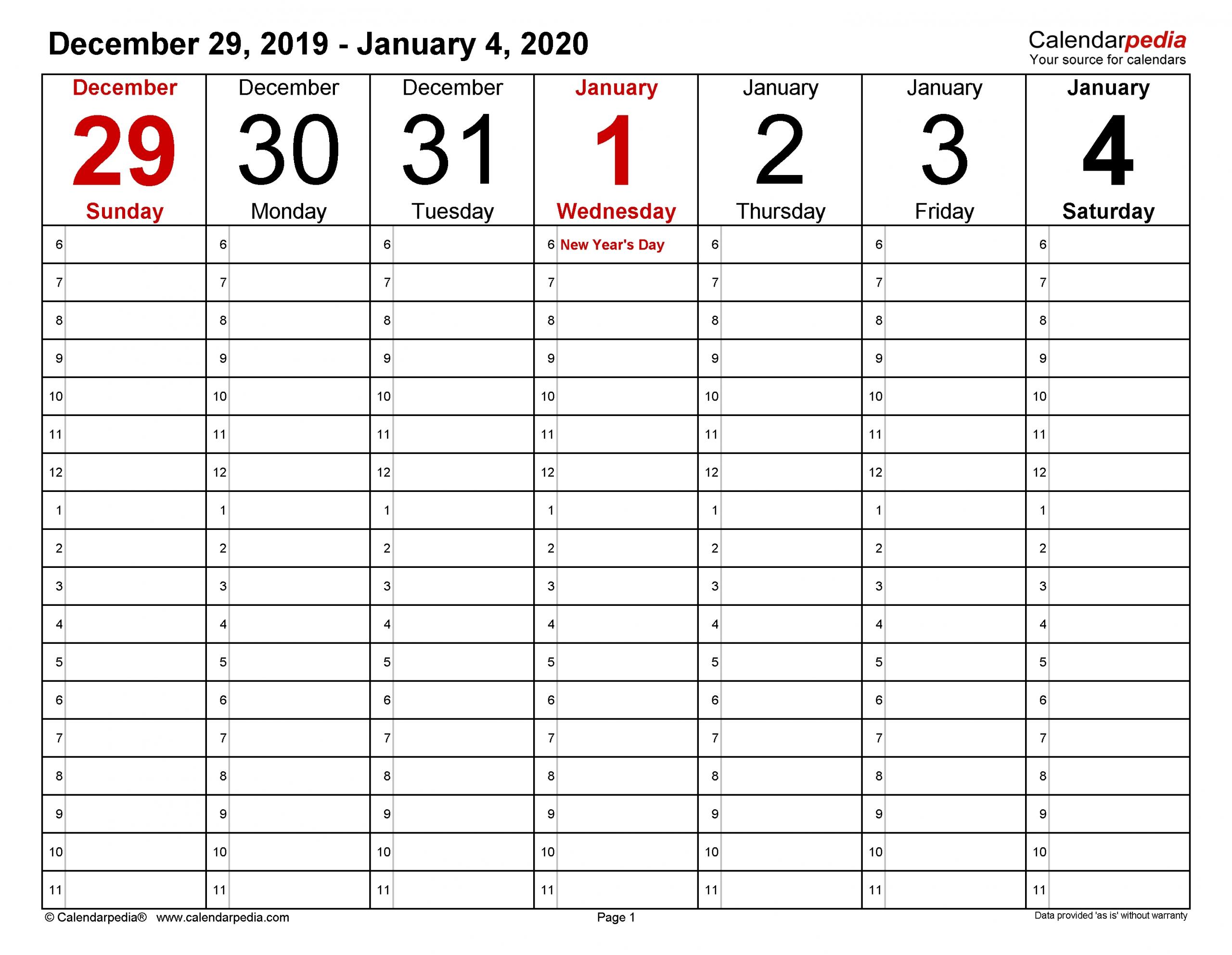Calendar Week To View Printable Ten Free Printable