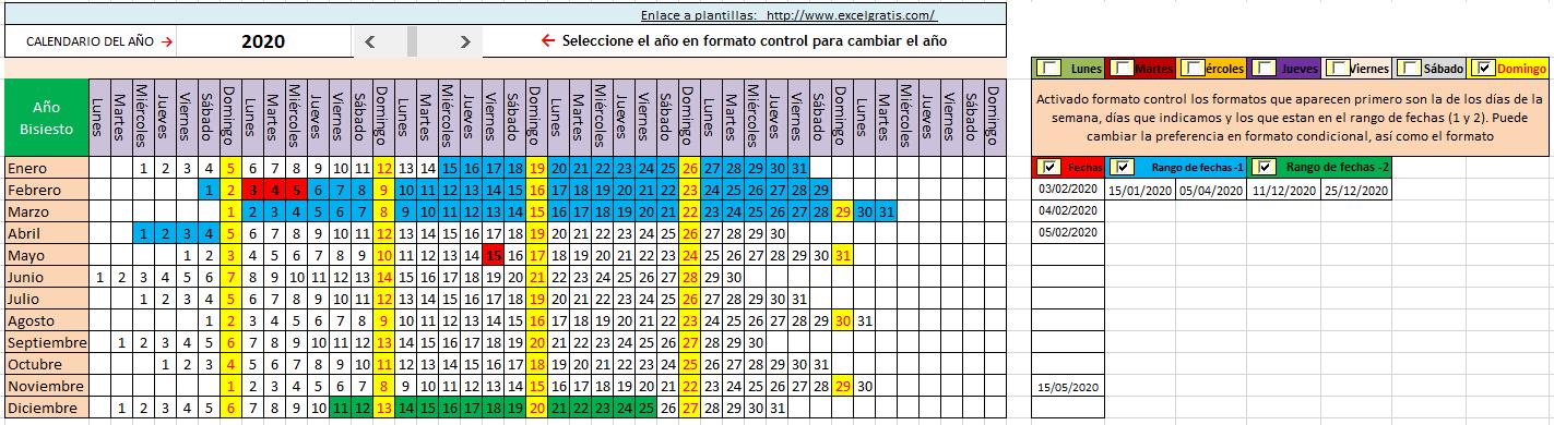 Calendario Que Muestra Los Dias Seleccionados Con Distinto