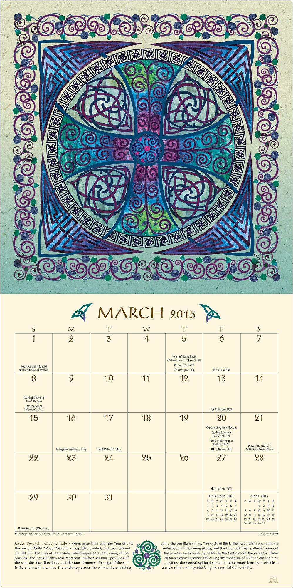 Celtic Mandala Calendar Unique Calendars Blog 2020 2021