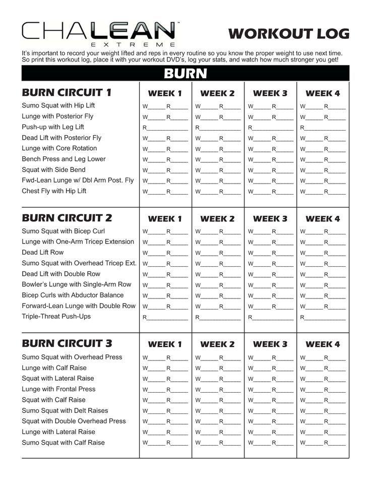 Chalean Extreme Deluxe Workout Calendar Pdf Blog Dandk