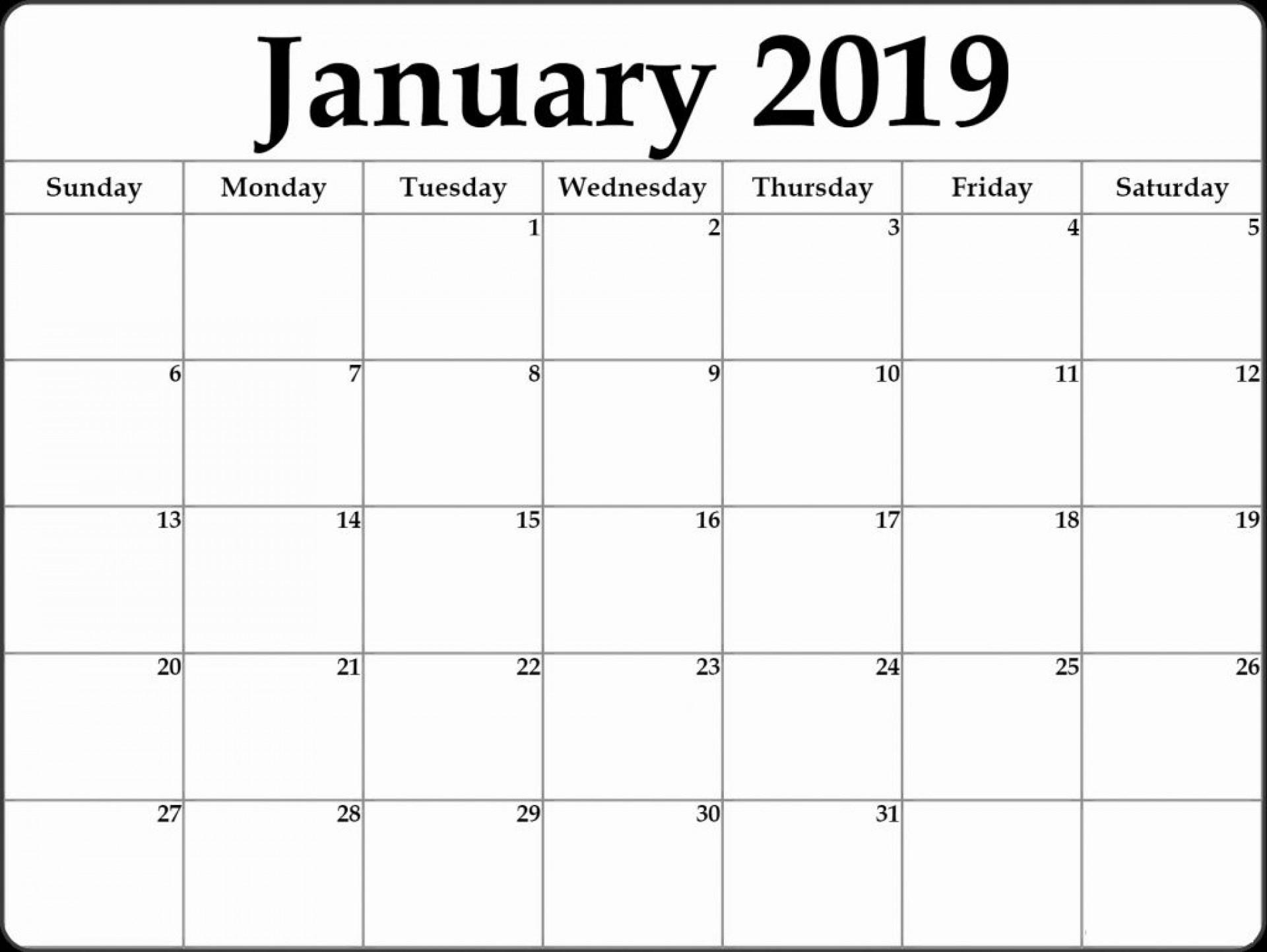 Collect 2020 Blank Calendar Printable Free Calendar