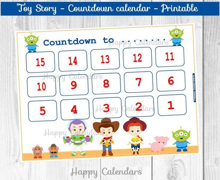 Countdown Calendar Toy Story Movie Countdown Printable