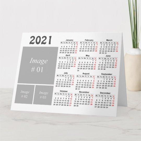 Create Your Own 2021 Calendar Card Zazzle Co Uk