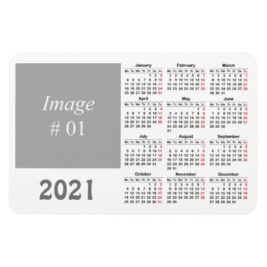 Create Your Own 2021 Calendar Magnet Zazzle Co Uk
