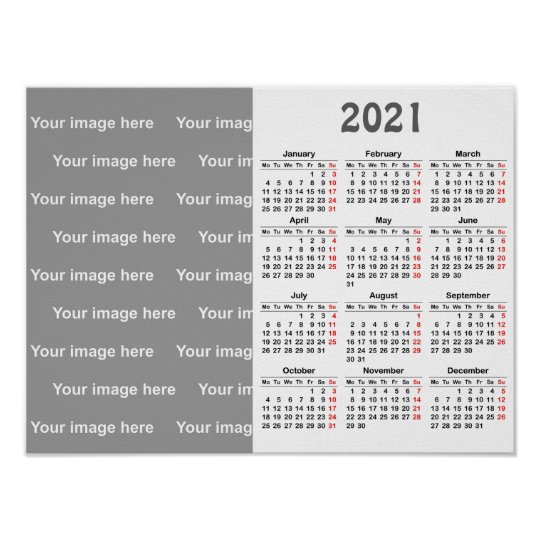 Create Your Own 2021 Calendar Poster Zazzle Co Uk