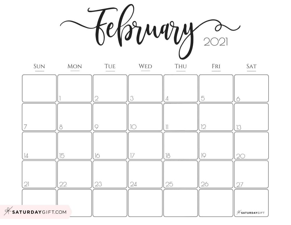 Cute 2021 Printable Calendar