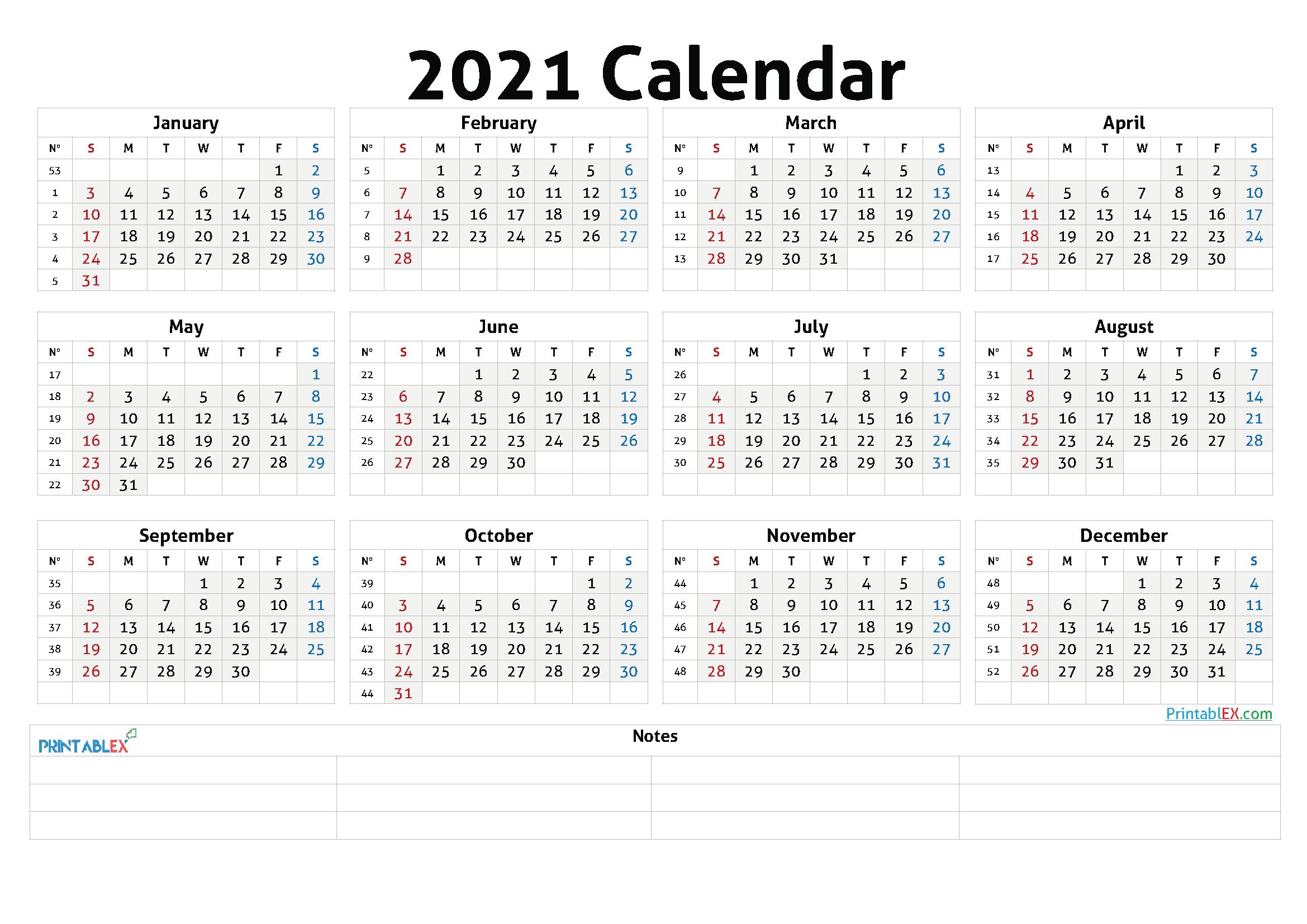Cute Printable Calendar 2021 21ytw48 In 2020 Free