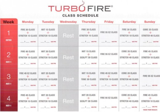 Dance The Pounds Away With The Turbo Fire Schedule Jessica Bowser Nelson Fitness