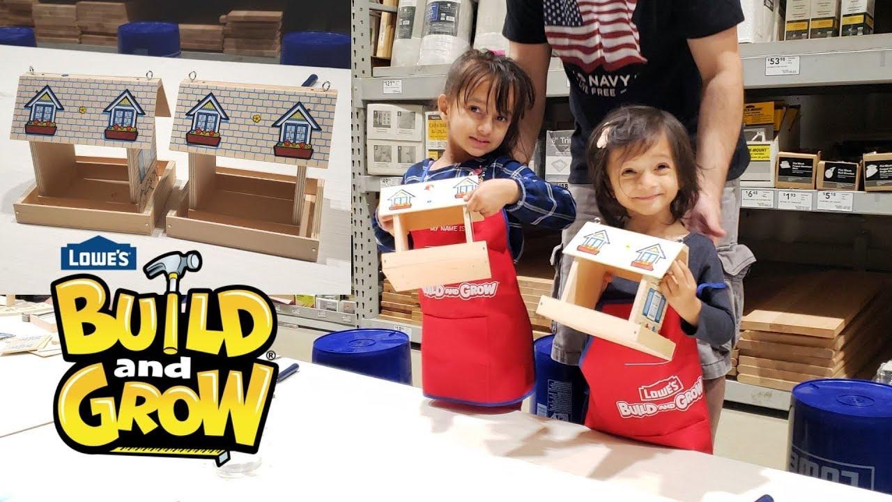 Diy Bird Feeder Lowes Build Grow Workshop Fun For Kids Mytwolittlesunshines Youtube
