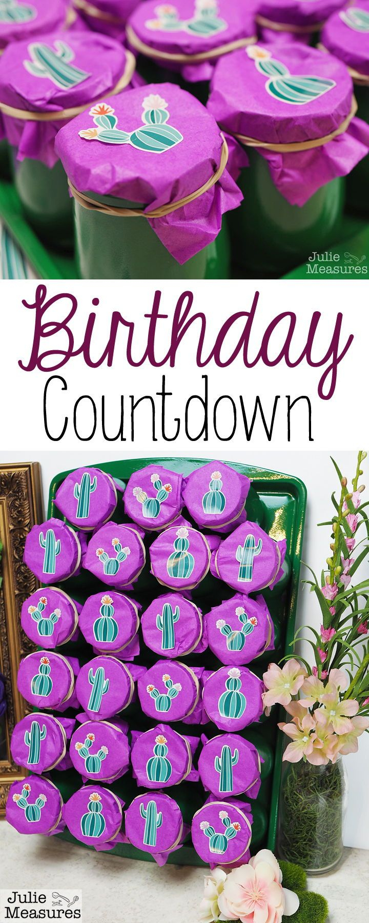 Diy Birthday Countdown Calendar Birthday Countdown