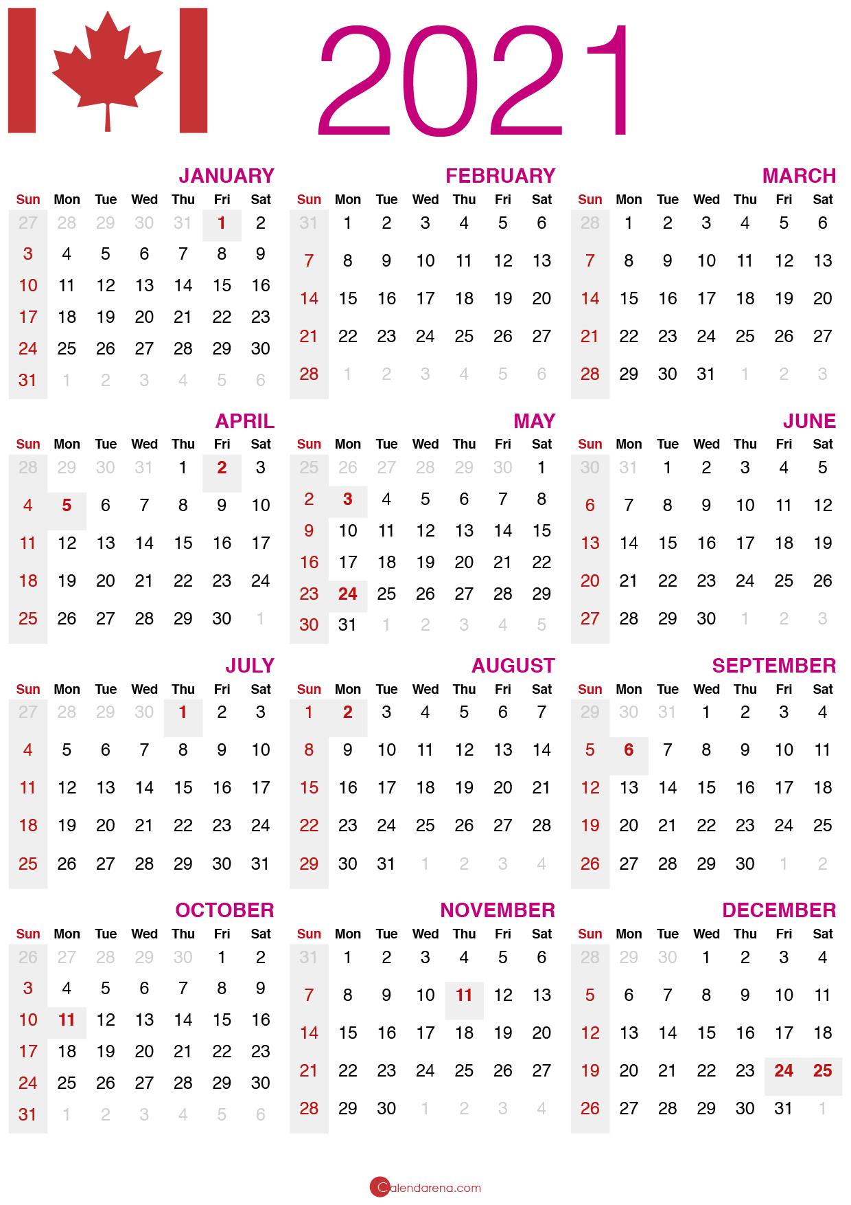 Download Free F09f87a8f09f87a6 2021 Calendar Canada