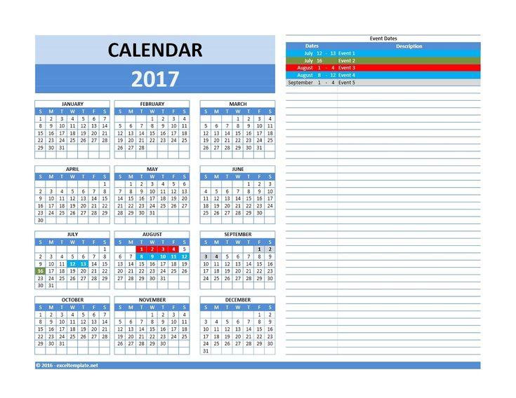 Free 5 Year Calendar Template In 2020 Excel Calendar