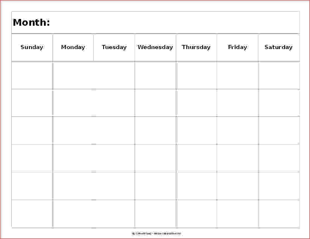 Free 6 Week Printable Calendar Month Calendar Printable
