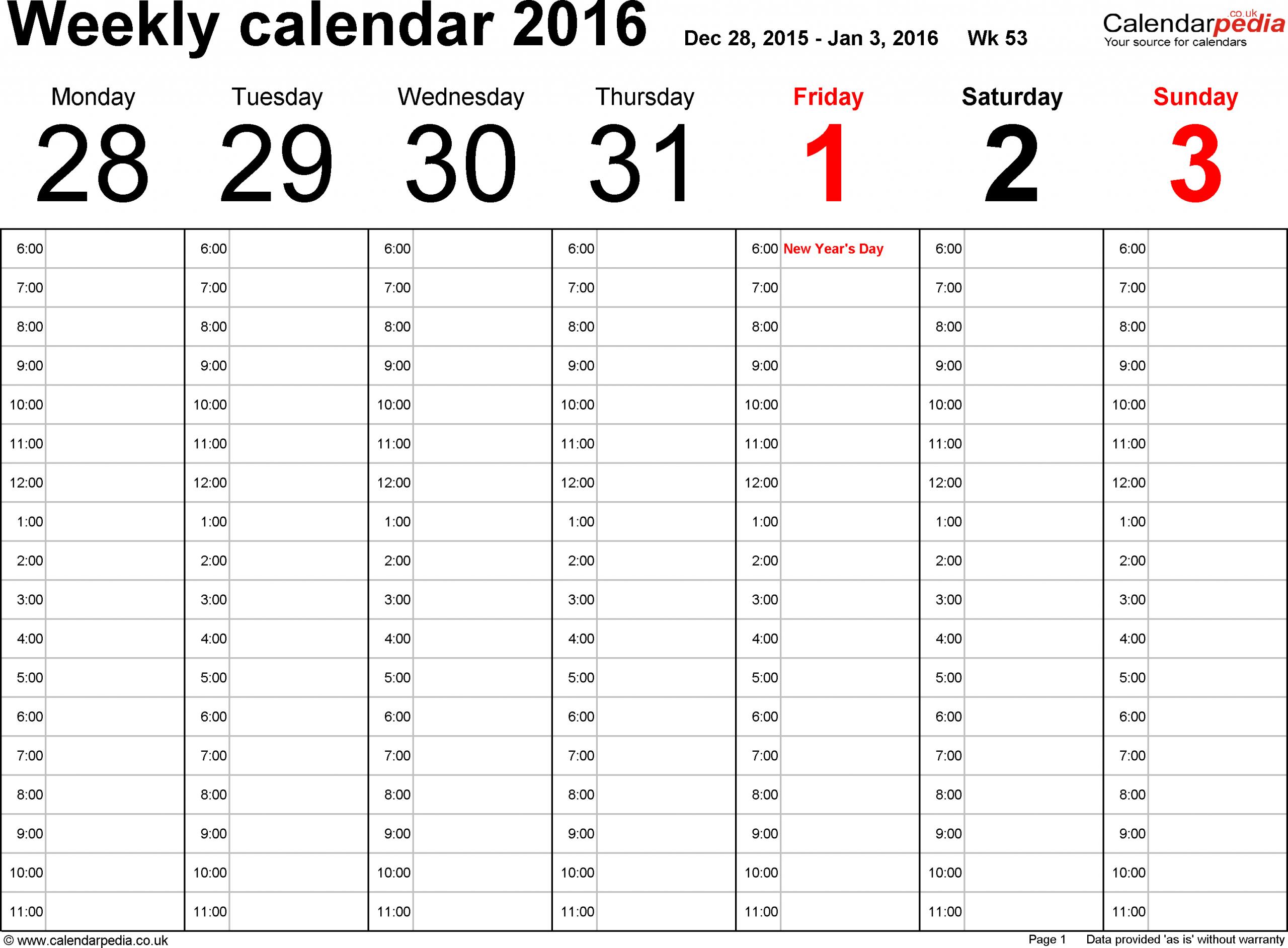 Free Printable 52 Week Calendar Calendar Printables Free
