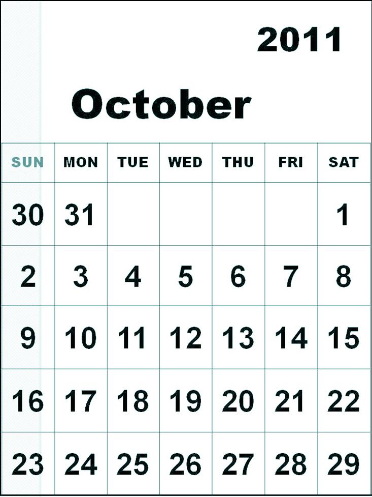Free Printable Calendar 2018 September 2011