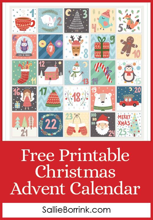Free Printable Christmas Advent Calendar A Quiet Simple