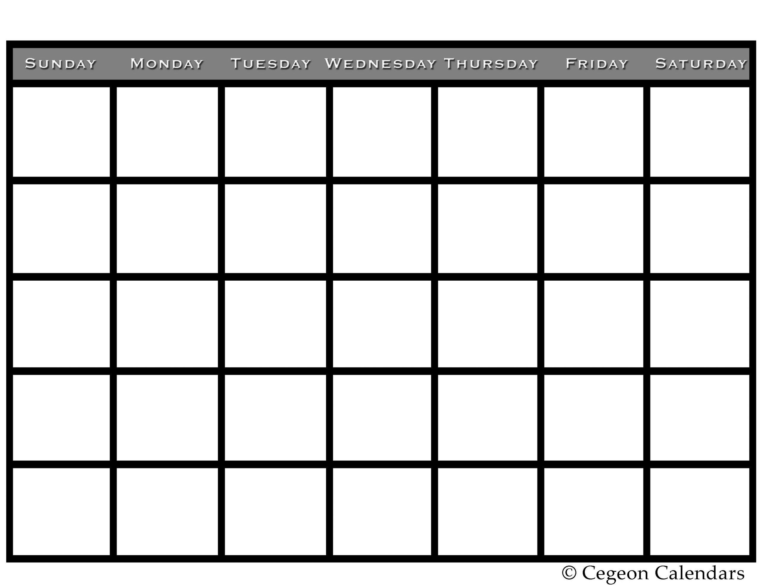 Get Your Free Printable Blank Calendar Blank Calendar