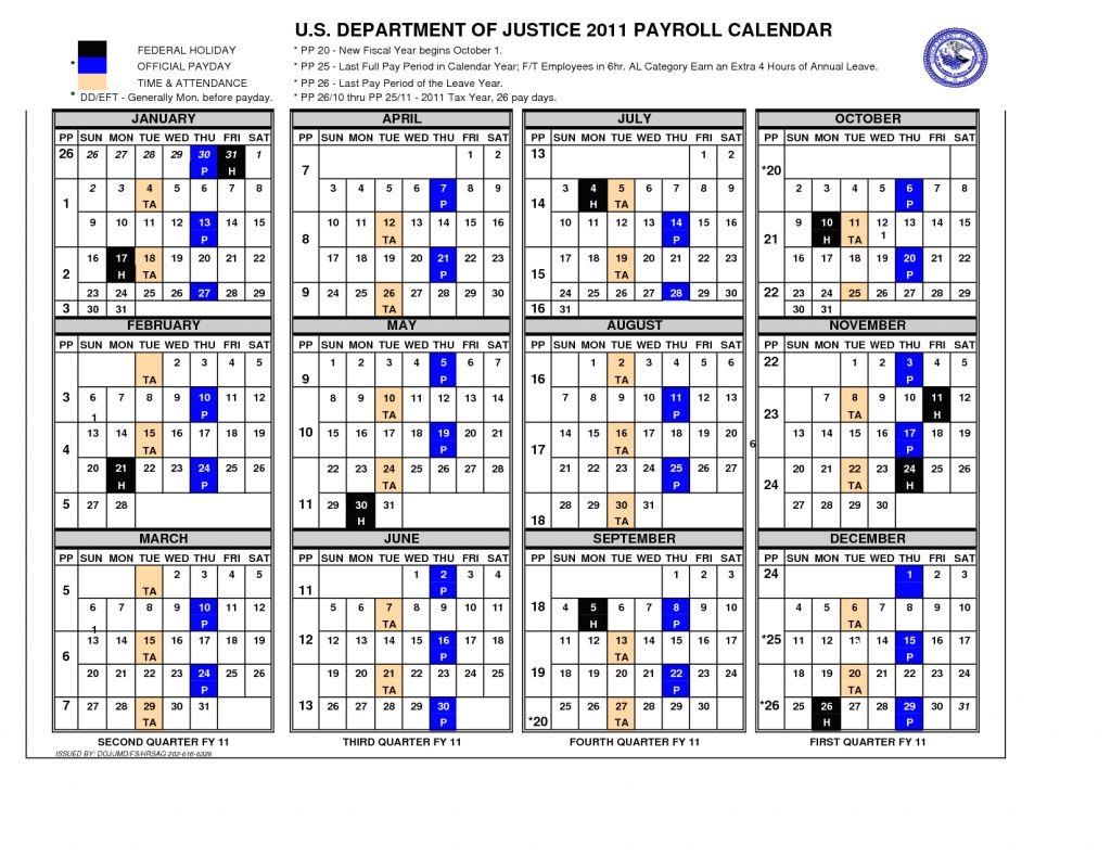 Gsa Pay Period Calendar 2020 Free Printable Calendar