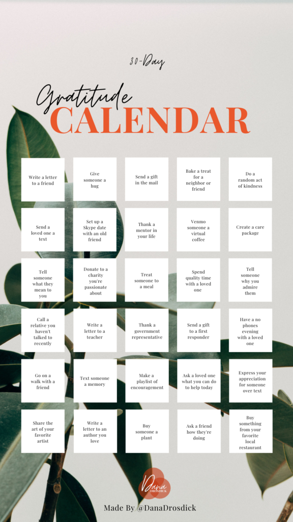 I Started A 30 Day Gratitude Calendar Heres How You Can