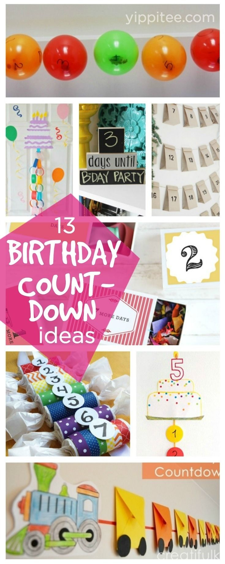 Ideas For A Countdown Calendar Birthday Countdown