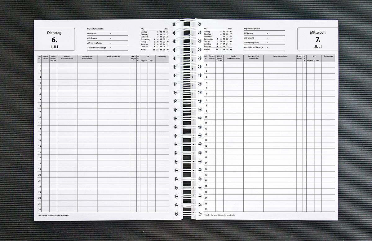 Krafthand Werkstatt Terminkalender Fur Die Tagliche