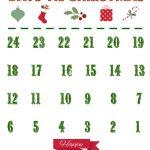 Lovely Printable Christmas Countdown Calendar For Kids