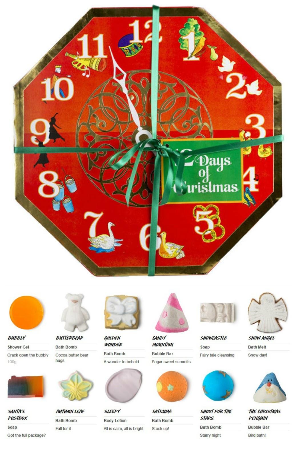 Lush 12 Days Advent Calendar Calendar Countdown