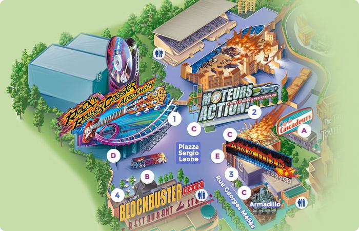 Map Of Backlot Dlp Guide Disneyland Paris Guidebook