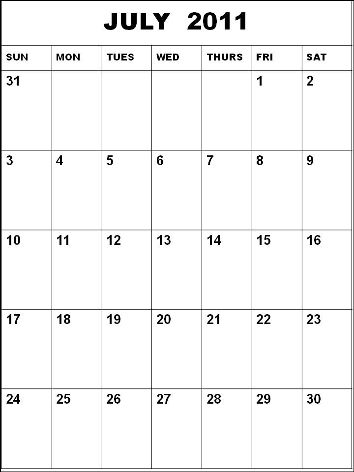 Mapincar July Calendars
