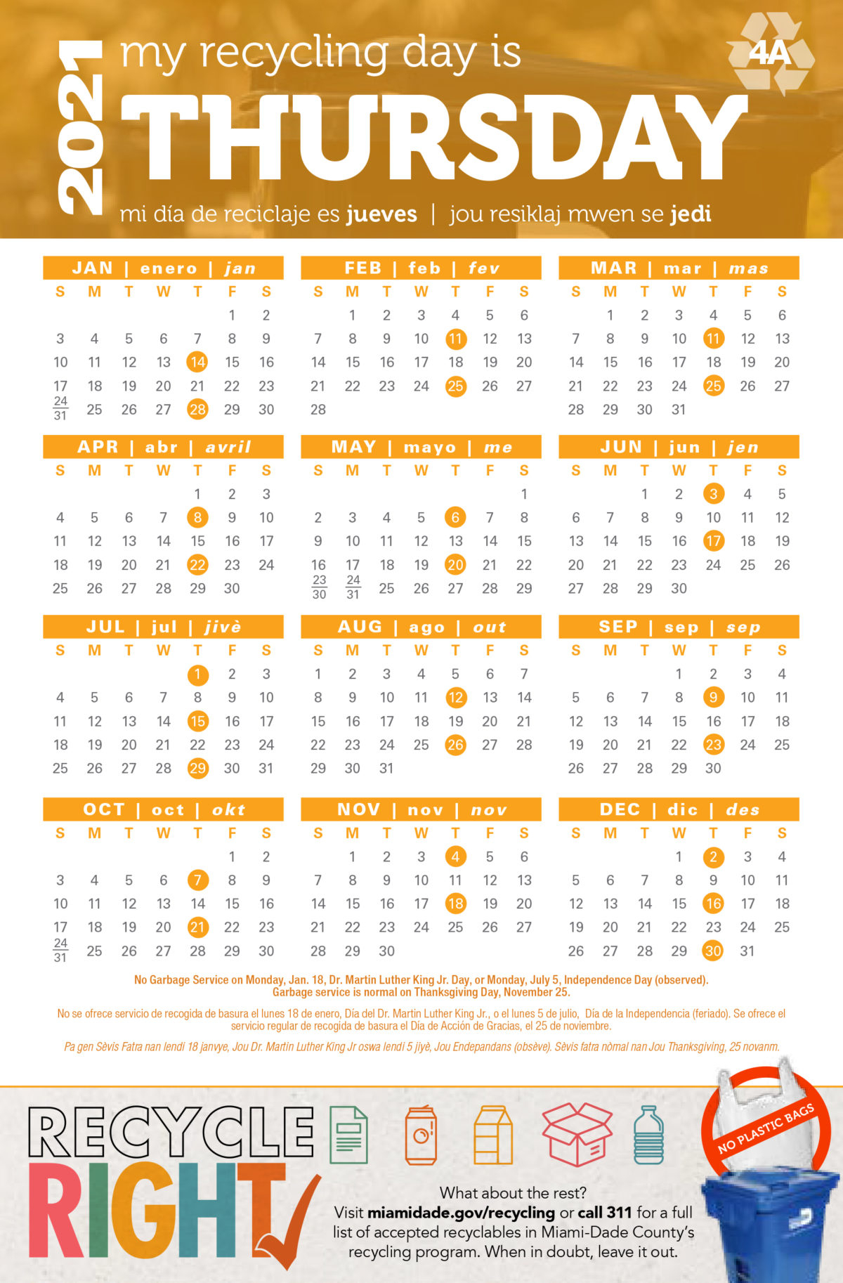 Miami Dade Recycling Calendar 2021 The Mansion At Doral
