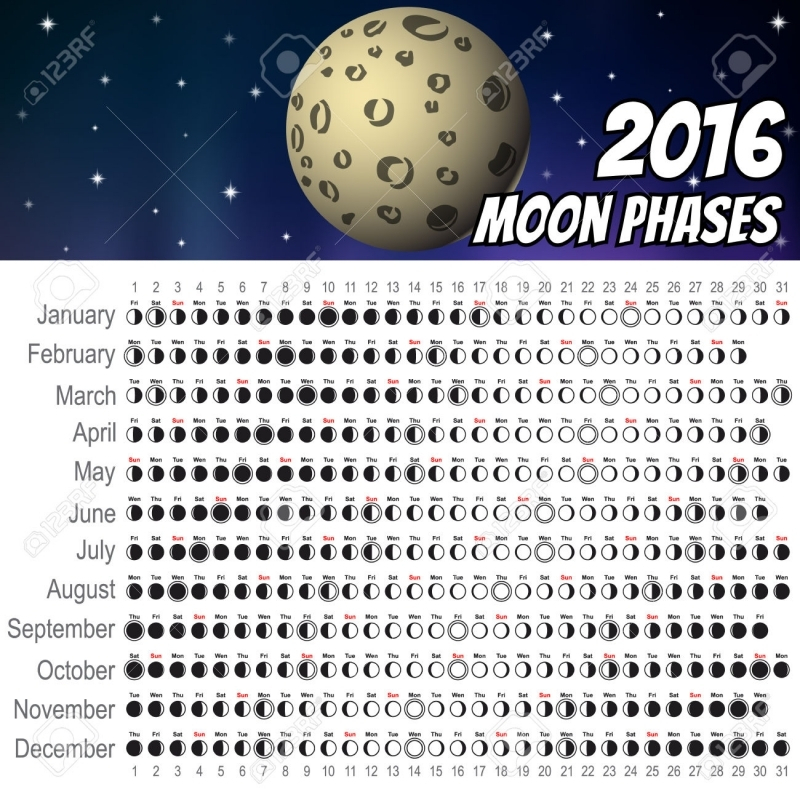 Moon Phase Calendar Template Free Calendar Template
