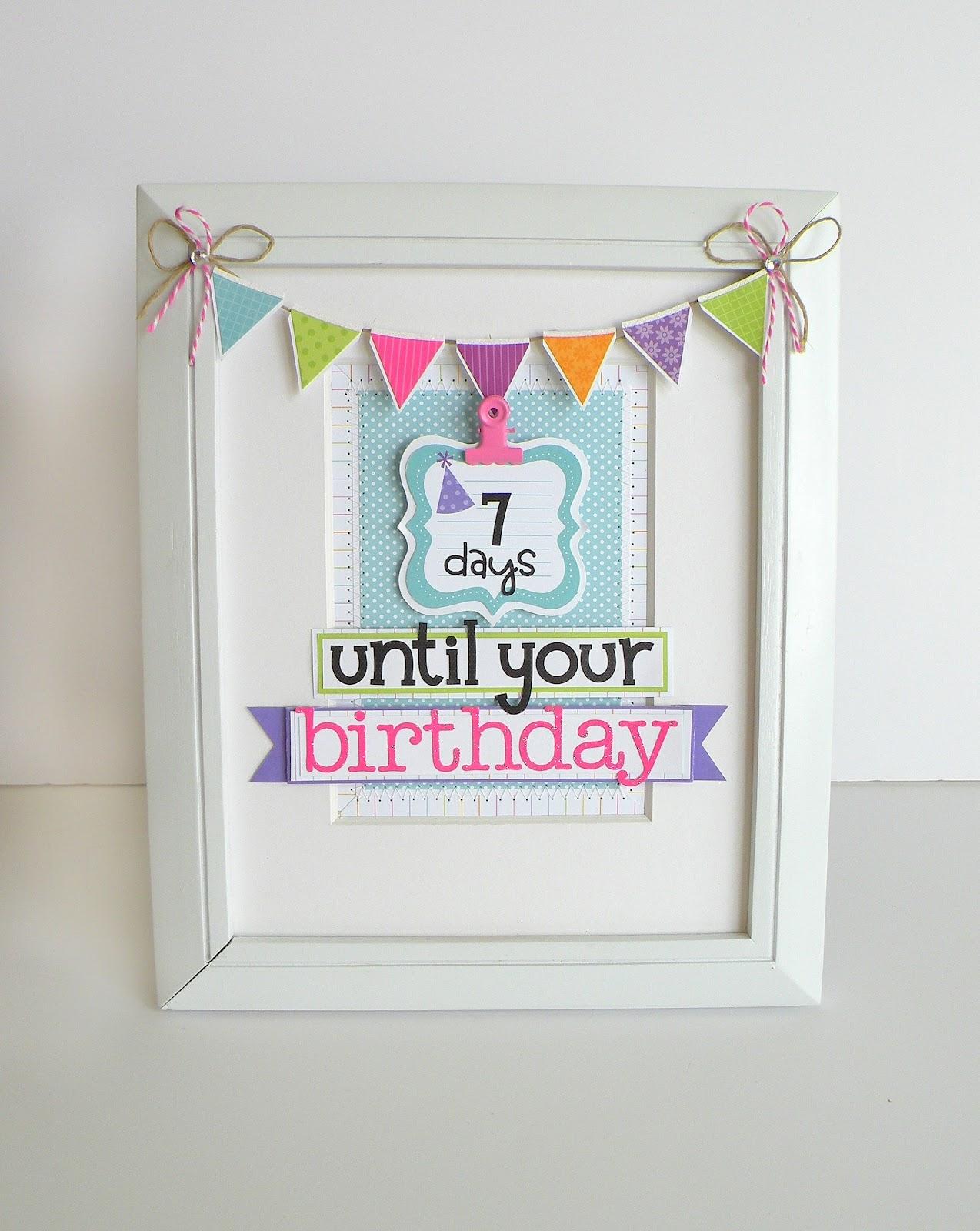 My Bits Of Sunshine Doodlebug Birthday Countdown Calendar