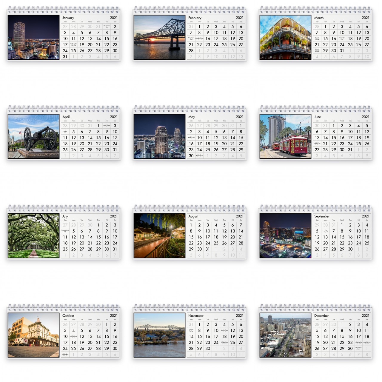 New Orleans 2021 Desk Calendar 1