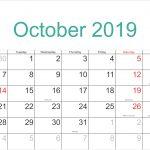 October 2020 8 5 X 14 Landscape Editable Printable