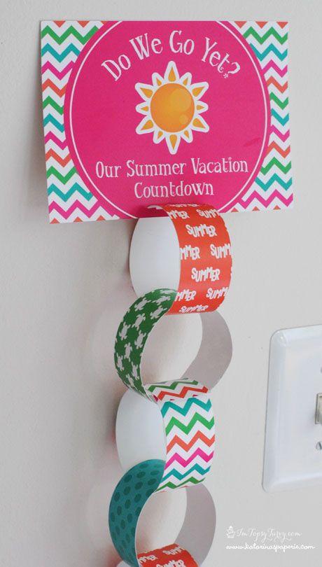 Paper Chain Summer Travel Countdown Calendar Nice Trick 1