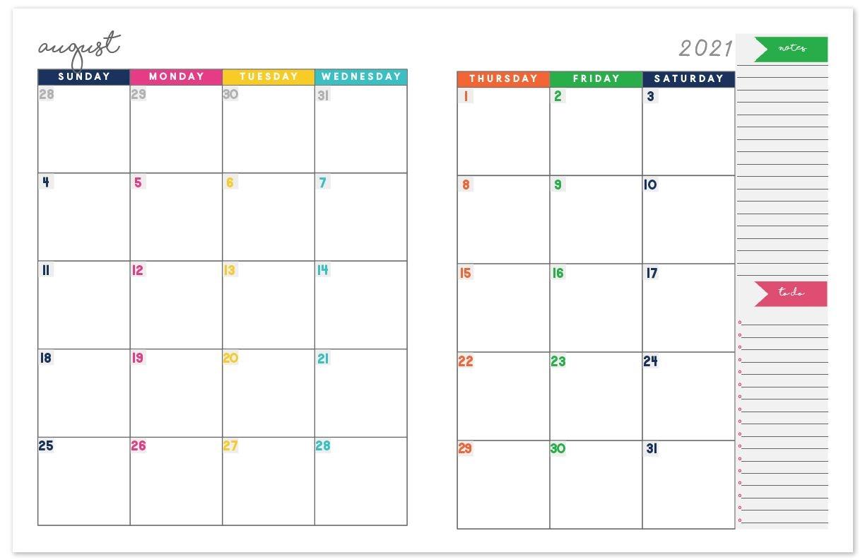 Planner Monthly Calendar Binder Example Calendar Printable