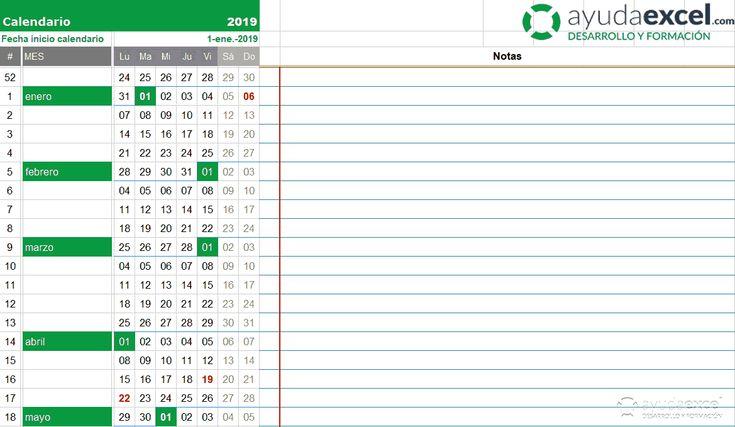 Plantillas Calendario En Excel 2019 Ayuda Excel Excel