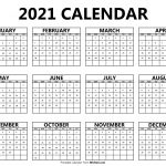 printable 2021 yearly calendar free printable calendars