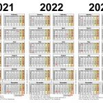 Printable 3 Year Calendar 2021 To 2023 Free 2021