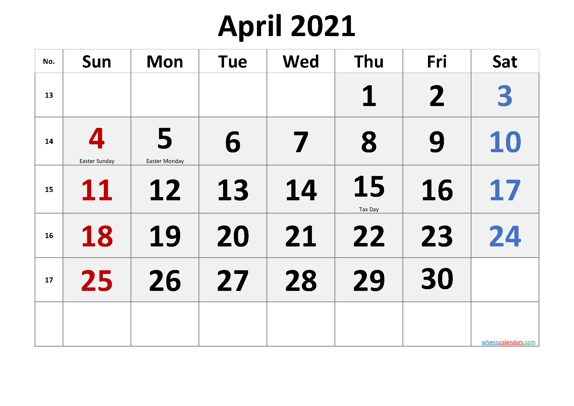 Printable 58 2021 Calendar 8 5 X 11 Inch Bold 2021